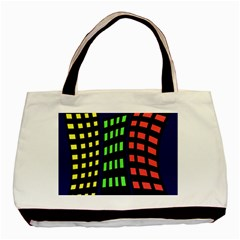 Colorful abstract city landscape Basic Tote Bag