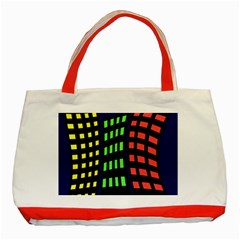 Colorful abstract city landscape Classic Tote Bag (Red)