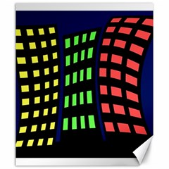 Colorful abstract city landscape Canvas 20  x 24
