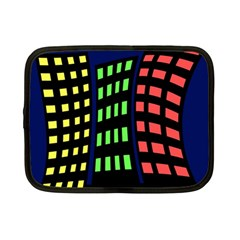 Colorful abstract city landscape Netbook Case (Small)