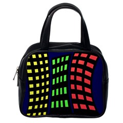 Colorful abstract city landscape Classic Handbags (One Side)