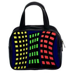 Colorful abstract city landscape Classic Handbags (2 Sides)