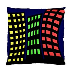 Colorful abstract city landscape Standard Cushion Case (Two Sides)
