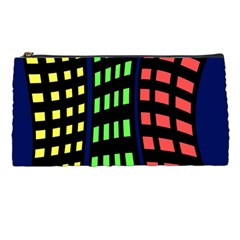 Colorful abstract city landscape Pencil Cases