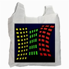 Colorful abstract city landscape Recycle Bag (Two Side)