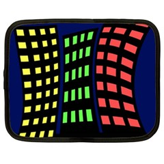 Colorful abstract city landscape Netbook Case (XXL)
