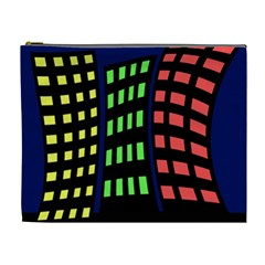 Colorful abstract city landscape Cosmetic Bag (XL)