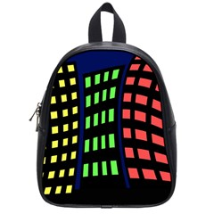 Colorful abstract city landscape School Bags (Small)