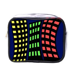 Colorful abstract city landscape Mini Toiletries Bags