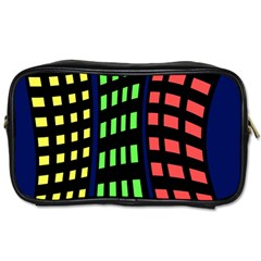 Colorful abstract city landscape Toiletries Bags