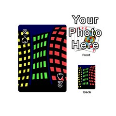 Colorful abstract city landscape Playing Cards 54 (Mini)