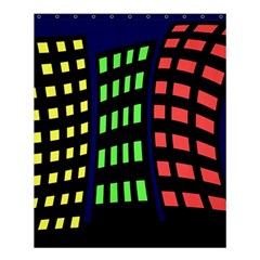 Colorful abstract city landscape Shower Curtain 60  x 72  (Medium)