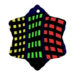 Colorful abstract city landscape Ornament (Snowflake)
