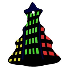 Colorful abstract city landscape Ornament (Christmas Tree)