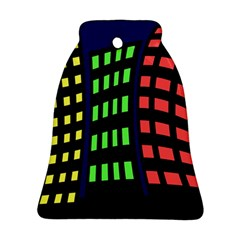 Colorful abstract city landscape Bell Ornament (2 Sides)