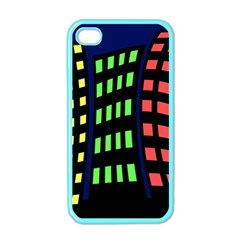 Colorful abstract city landscape Apple iPhone 4 Case (Color)
