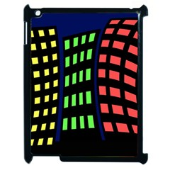 Colorful abstract city landscape Apple iPad 2 Case (Black)