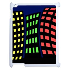 Colorful abstract city landscape Apple iPad 2 Case (White)