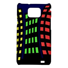 Colorful abstract city landscape Samsung Galaxy S2 i9100 Hardshell Case