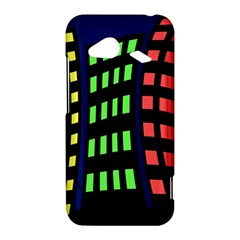 Colorful abstract city landscape HTC Droid Incredible 4G LTE Hardshell Case