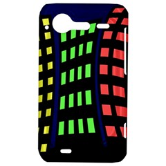 Colorful abstract city landscape HTC Incredible S Hardshell Case
