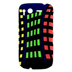 Colorful abstract city landscape HTC Desire S Hardshell Case