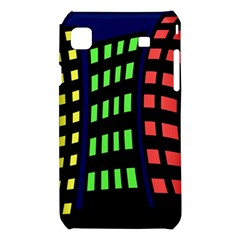 Colorful abstract city landscape Samsung Galaxy S i9008 Hardshell Case