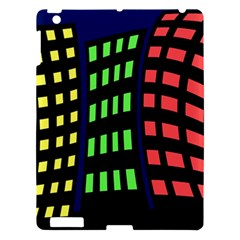 Colorful abstract city landscape Apple iPad 3/4 Hardshell Case