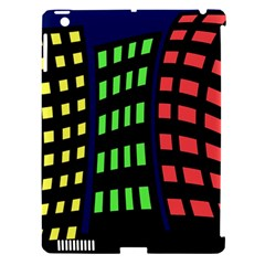 Colorful abstract city landscape Apple iPad 3/4 Hardshell Case (Compatible with Smart Cover)