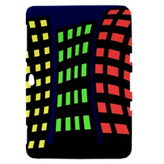 Colorful abstract city landscape Samsung Galaxy Tab 8.9  P7300 Hardshell Case