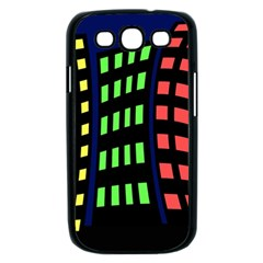 Colorful abstract city landscape Samsung Galaxy S III Case (Black)