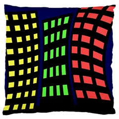 Colorful abstract city landscape Large Cushion Case (Two Sides)