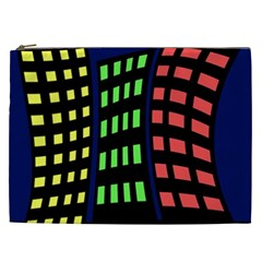 Colorful abstract city landscape Cosmetic Bag (XXL)