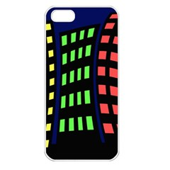 Colorful abstract city landscape Apple iPhone 5 Seamless Case (White)