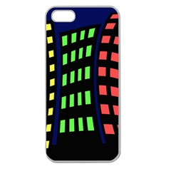 Colorful abstract city landscape Apple Seamless iPhone 5 Case (Clear)