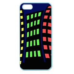 Colorful abstract city landscape Apple Seamless iPhone 5 Case (Color)
