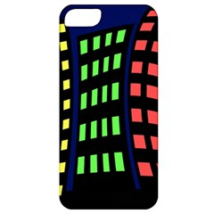 Colorful abstract city landscape Apple iPhone 5 Classic Hardshell Case