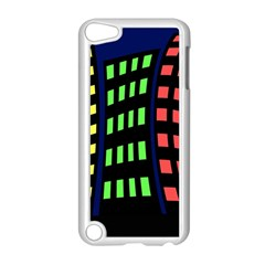 Colorful abstract city landscape Apple iPod Touch 5 Case (White)