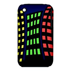 Colorful abstract city landscape Apple iPhone 3G/3GS Hardshell Case (PC+Silicone)