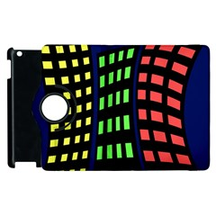 Colorful abstract city landscape Apple iPad 3/4 Flip 360 Case