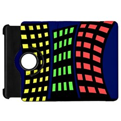 Colorful abstract city landscape Kindle Fire HD Flip 360 Case