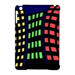 Colorful abstract city landscape Apple iPad Mini Hardshell Case (Compatible with Smart Cover)