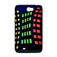 Colorful abstract city landscape Samsung Galaxy Note 2 Hardshell Case (PC+Silicone)