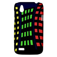 Colorful abstract city landscape HTC Desire V (T328W) Hardshell Case