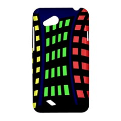 Colorful abstract city landscape HTC Desire VC (T328D) Hardshell Case