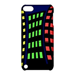 Colorful abstract city landscape Apple iPod Touch 5 Hardshell Case with Stand