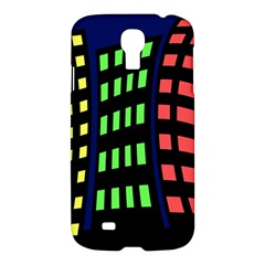Colorful abstract city landscape Samsung Galaxy S4 I9500/I9505 Hardshell Case
