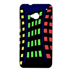 Colorful abstract city landscape HTC One M7 Hardshell Case