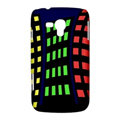 Colorful abstract city landscape Samsung Galaxy Duos I8262 Hardshell Case