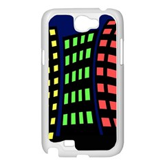 Colorful abstract city landscape Samsung Galaxy Note 2 Case (White)